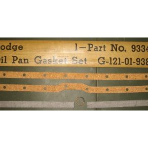 GASKET SET, OIL PAN, DODGE