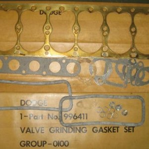 GASKET KIT, VALVE GRIND, DODGE