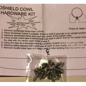 WINSHIELD RUBBER SEAL FRAME TO COWL HARDWARE KIT