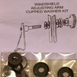 WINDSHIELD ASJUSTING ARM KIT W/CUPPED WASHER