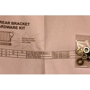 AXE REAR BRACKET HARDWARE KIT