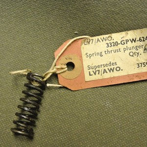 SPRING, THRUST PLUNGER, CHAIN DRIVEN CAM