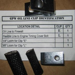 CLIP SET - OIL LINE - GPW