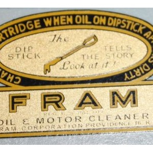 DECAL SET FRAM OIL FILTER KUN FORD