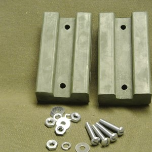HOOD BLOCK RUBBER PAIR WILLYS MB