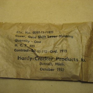 SEAL/COVER GIR SHIFT LEVER HOUSING NOS