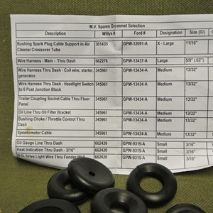 RUBBER GROMMETS 11 PIECES SET FOR E.FORD AND ALL WILLYS
