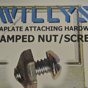 GLOVE COMPARTMENT ID PLATES SCREWS/NUTS