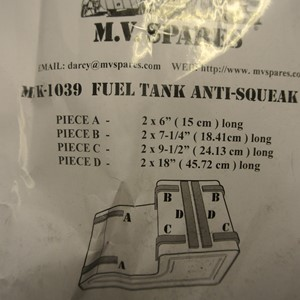 FUEL TANK ANTI SQUEEK SET