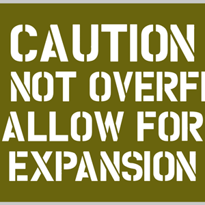 SJABLONG - CAUTION DO NOT OVERFILL