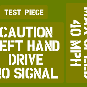 CAUTION LEFT HAND DRIVE & MAX SPEED 40