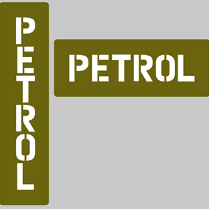 JERRY CAN MARKING - PETROL