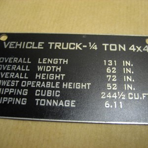 SHIPPING PLATE
